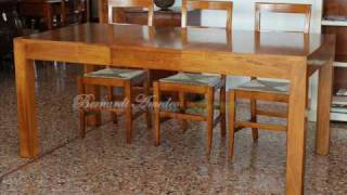 Tavolo allungabile in noce nazionale design moderno - Mobili ...