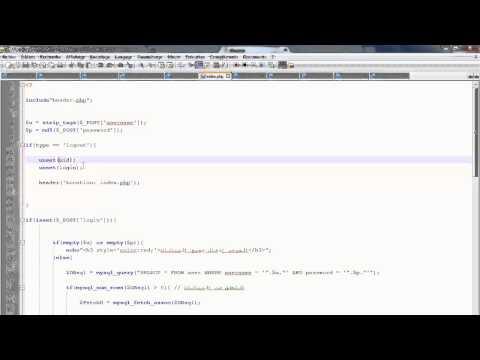 دورة PHP/MYSQL : الدرس 47 (درس تطبيقي :نظام تسجيل الخروج)