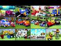 Фрагмент с конца видео - Мультики с игрушками про машинки - Пожарные машины и горящий вагон.