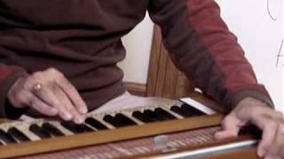 Harmonium Inatruction - Lesson 2 - Hamsadwani - Ganesh Sharanam with notes