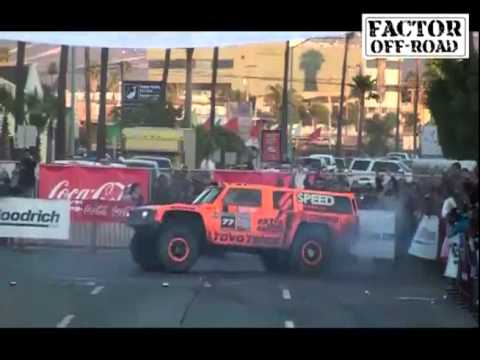 Robby Gordon SPEED ENERGY HUMMER   2011 Baja 500   Start & Finish