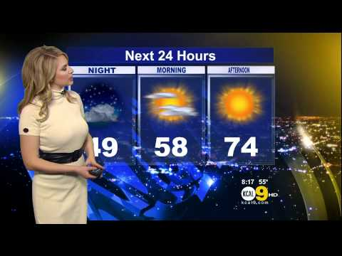 Evelyn Taft 2011/12/30 8PM KCAL9 HD; White dress