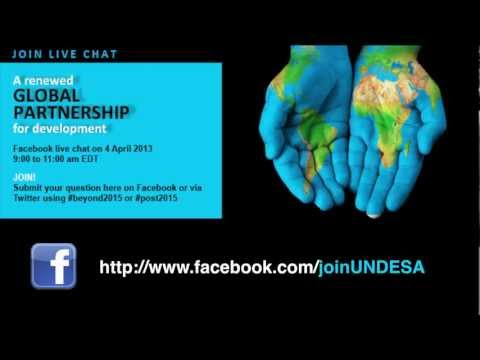Join Facebook chat on a renewed global partnership for development