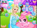 Фрагмент с начала видео - Disney Frozen Game - Frozen Elsa Pet Care Baby Videos Games For Kids