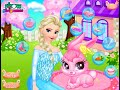Фрагмент с конца видео - Disney Frozen Game - Frozen Elsa Pet Care Baby Videos Games For Kids