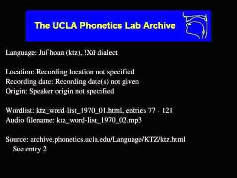 Ju|'hoan audio: ktz_word-list_1970_02