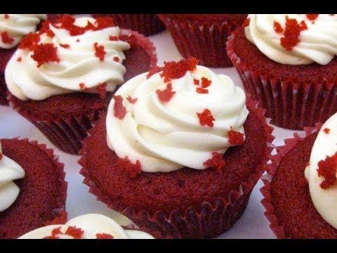 Cupcakes de Bizcocho Red Velvet Autenticos