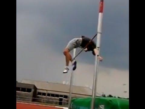 Hochsprung  Slow Motion  Leichtathletik  Track & Field High Jump Fosburyflop Zeitlupe Korkeushyppy