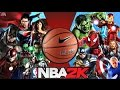 Justice League VS Avengers in NBA 2K12 ! HD