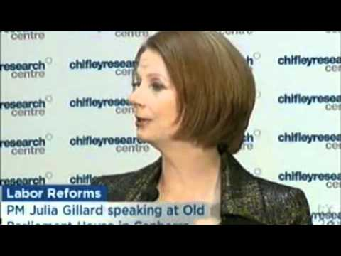 Prime Minister Julia Gillard's Special Address to the Chifley Research Centre on Labor Values