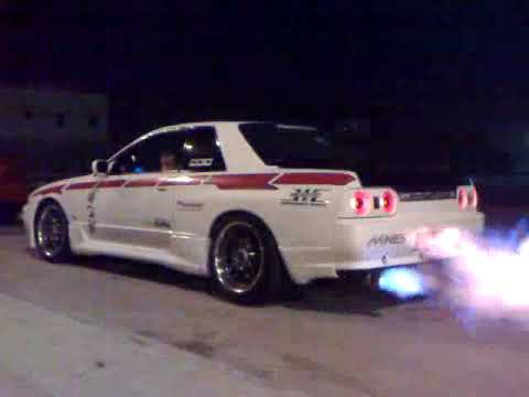 sky line gt-s 32 with exhaust flame thrower from saudi arabia باك فاير