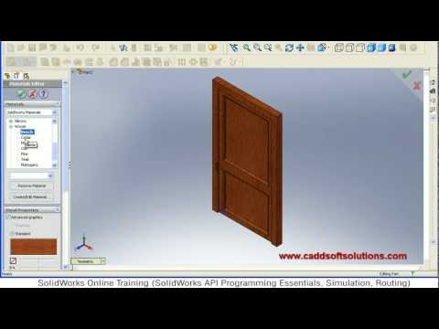 SolidWorks Door Modeling Tutorial | SolidWorks Part Modeling Tutorial