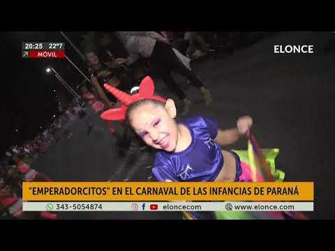 Emperadorcitos, en el Carnaval de las Infancias de Paraná
