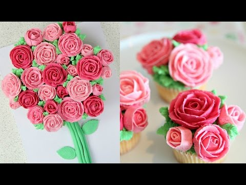 Buttercream Roses Cupcake Bouquet - CAKE STYLE & SIMPLY BAKINGS