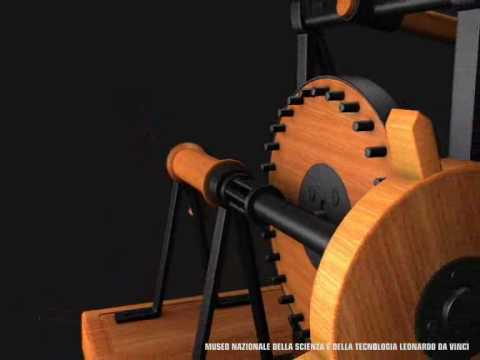 Macchina per intagliare le lime (Machine for cutting files) di Leonardo da Vinci