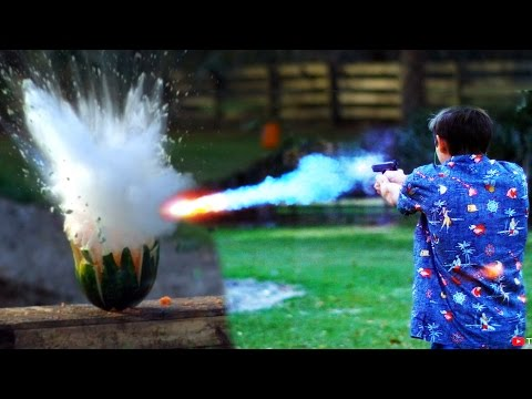 Shooting Watermelons with 'Exploding'  Sodium Bullets! - UC06E4Y_-ybJgBUMtXx8uNNw