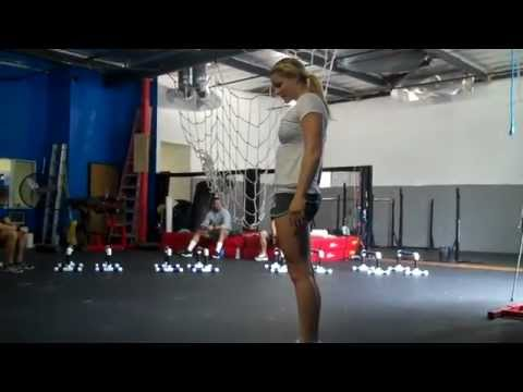 CrossFit WOD Demo 111026 - Wall Climb, Up-down, Pass-through, Grasshopper