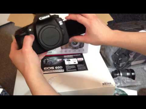 Canon EOS 60D DSLR Camera Bundle Kit Unboxing