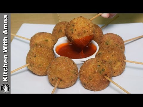 Potatoes Lollipop Recipe - Kids Snacks Recipes - Kitchen With Amna