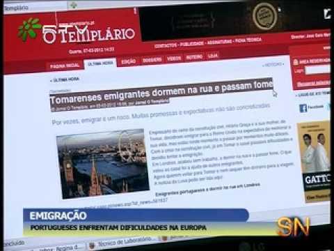 EMIGRAÇÃO PORTUGUESES ENFRENTAM DIFICULDADES NA EUROPA
