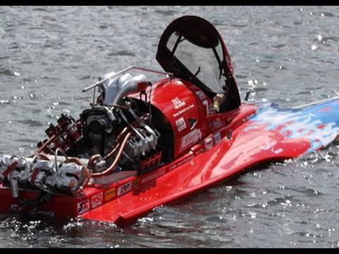 Wild Top Fuel Hydro Boat 250mph in Stereo HD IHBA