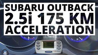 Subaru Outback 2.5i 175 KM (AT) - przyspieszenie 0-100 km/h