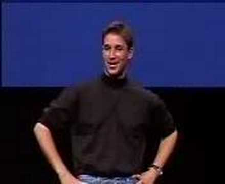 Macworld NY 1999-Noah Wyle imitating Steve Jobs