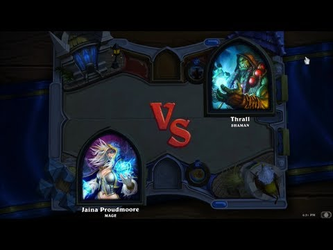 Hearthstone: Heroes of Warcraft - Mage vs. Shaman