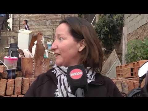 Manos solidarias: Avanza la construcción de la rampa para Ángela