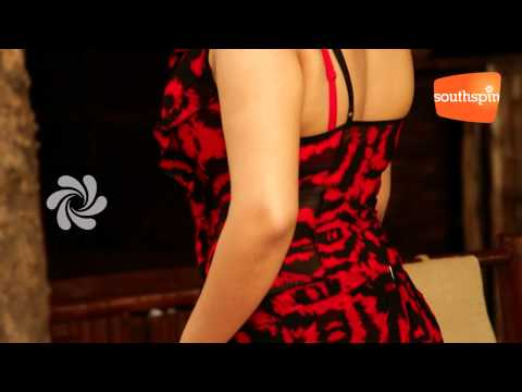 Actress Charmi BARE BACK Bikini Photo shoot For CCL 2012 Calendar