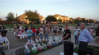 Mayor Wilson Speaks at Grayhawk National Night Out Block Party