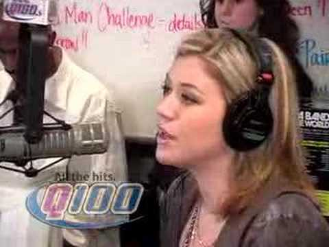 Q100 Atlanta - Kelly Clarkson on the Bert Show- PT2