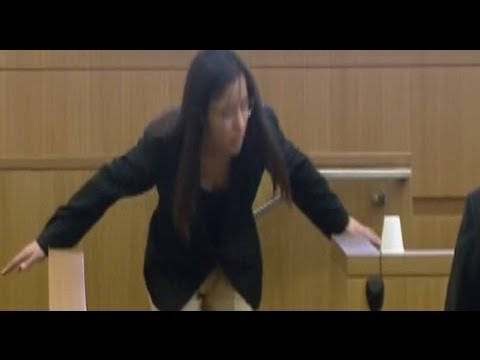 "Jodi Arias Demonstrating The Alleged ""Linebacker"" Style Attack"