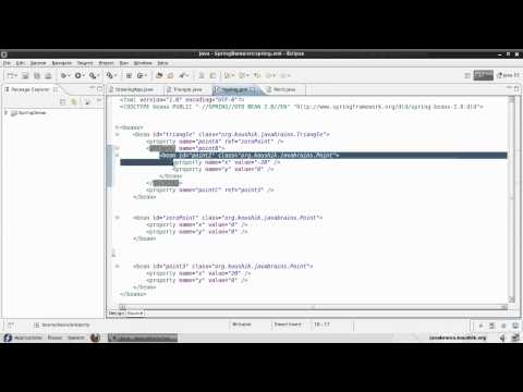 Spring Tutorial 08 - Inner Beans, Aliases and idref