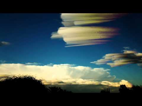 Colorful high-contrast cumulus/nimbus trippy sky-art version V10096a