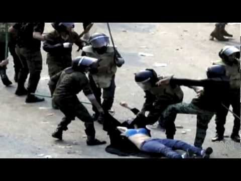 Egyptian Police Beat & Expose Female Protester