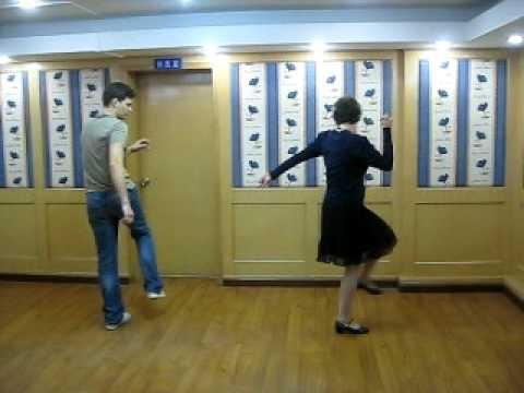 Lindy Hop (swing dancing) footwork variations including scissor steps