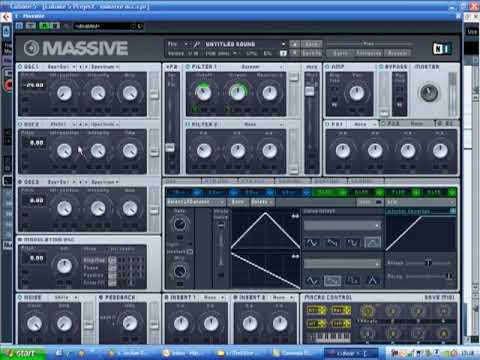 Wobble Bass Automation Editing in Massive & Cubase