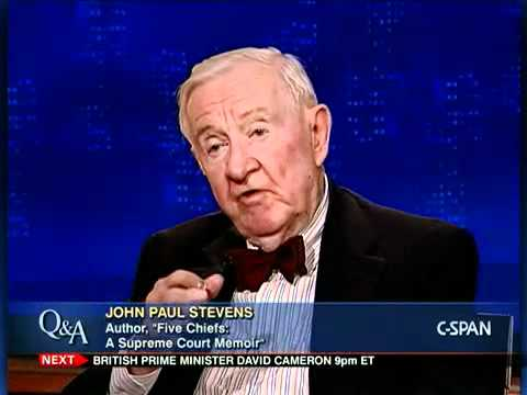Fmr. Justice John Paul Stevens, Author, Five Chiefs: A Supreme Court Memoir