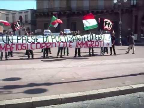 Manduria, 3 Aprile 2011: Manifestazione di Forza Nuova contro l'immigrazione