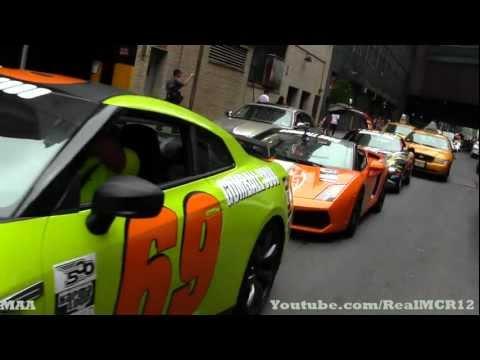 Gumball 3000 2012 Traffic Jam - 599 GTO - SLS AMG - Nissan GTR - 599 GTB