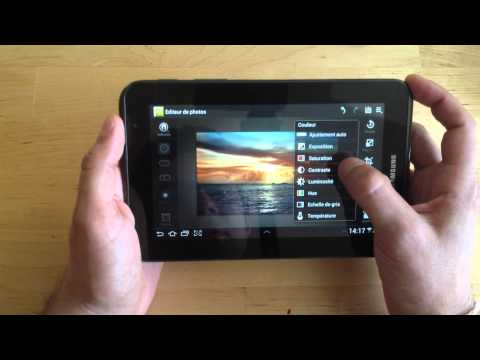Samsung Galaxy Tab 2 7.0 : la tablette en fonctionnement