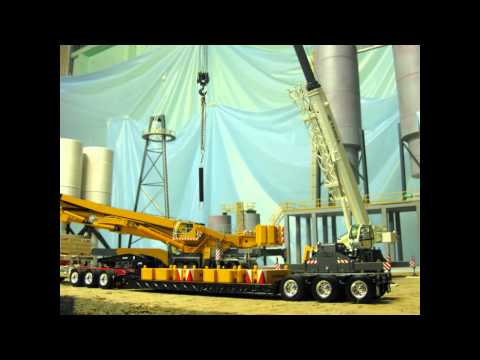 LIEBHERR LTM 11200 ASSEMBLY VID (stop motion feat,TEREX RT 130 ) part 2.