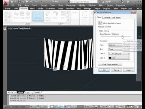 AutoCad 2012 3D modelling:  surface design