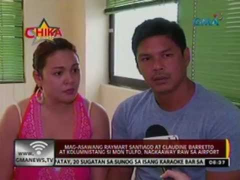 24 Oras:  Mag-asawang Raymart at Claudine Barretto at Mon Tulfo, nagkaaway raw sa airport (050612)