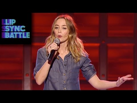 Emily Blunt's No Diggity vs. Anne Hathaway's Love | Lip Sync Battle