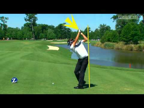 Bubba Watson's SwingVision tee shot Saturday of Zurich Classic 2011