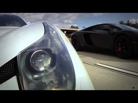 Underground Racing Twin Turbo Ferrari 458 Italia vs 2012 Lamborghini Aventador LP700-4