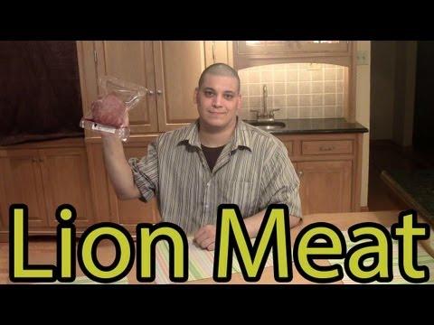 Dave's Exotic Foods - Lion Meat -- ( Cooking Lion Burger / Lion Taco )