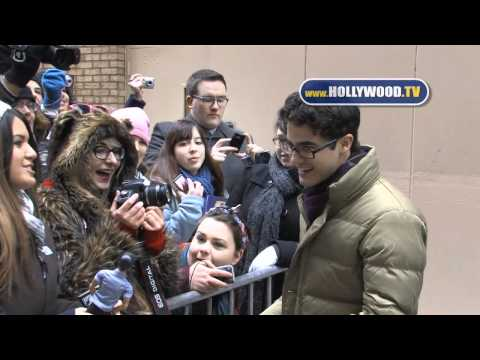 "Darren Criss greets his fans at ""Live with Kelly"""